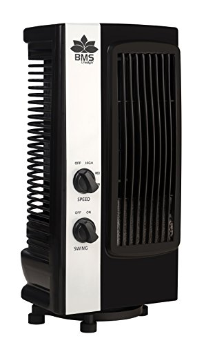 Bms Tf-101 Portable Mini Revolving & Oscillating Tower Fan ( Black , 1- Year Warranty )