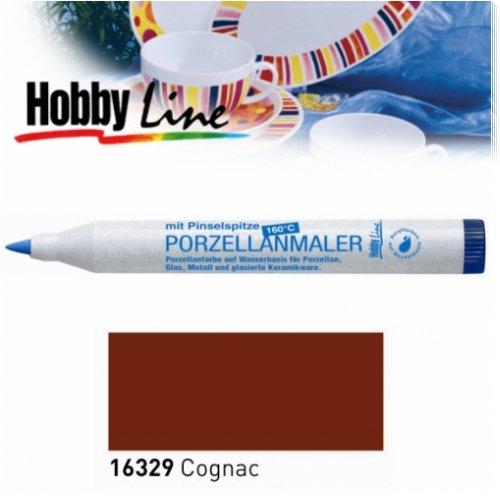 HOBBY LINE Porzellanmaler 160 °C mit Pinselspitze Cognac-HobbyLine