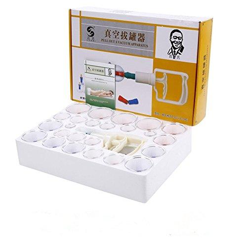 24/Stück / Set chinesischen Gesundheitsvorsorge Medizinische VakuumkörperMassager Schröpfen Set Tragbare Massage-Therapie-Kit Körper Entspannung gesunde Massage-Set