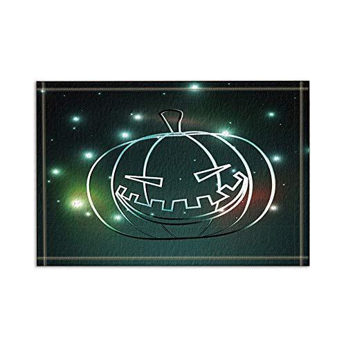 ollen Halloween-Kürbis-Badeteppiche rutschfeste Boden-Eingänge im Freien Innenfronttür-Matte 15.7x23.6in Badematte ()