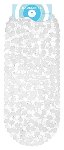 Circul Badewannenmatte 99 x 39 cm weiß Steinoptik