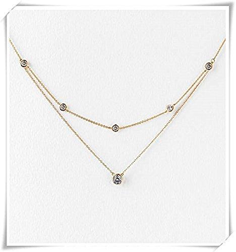 k Halskette, Hintergrund Halskette, Bridal Rückseite Halskette, ()