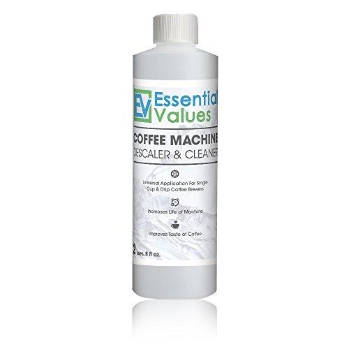 Essential Values Entkalkungslösung für Keurig, Delonghi, Saeco, Gaggia, Nespresso und alle Einmalanwendungen, Kaffeekanne und Espressomaschinen