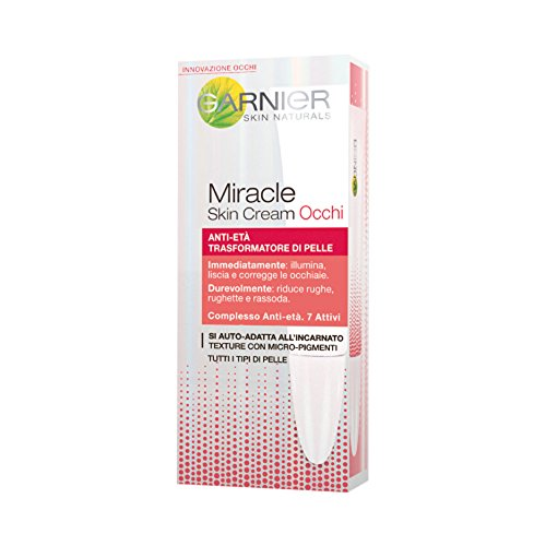 Garnier Miracle Skin Cream Crema Contorno Occhi Anti-Età, 15 ml