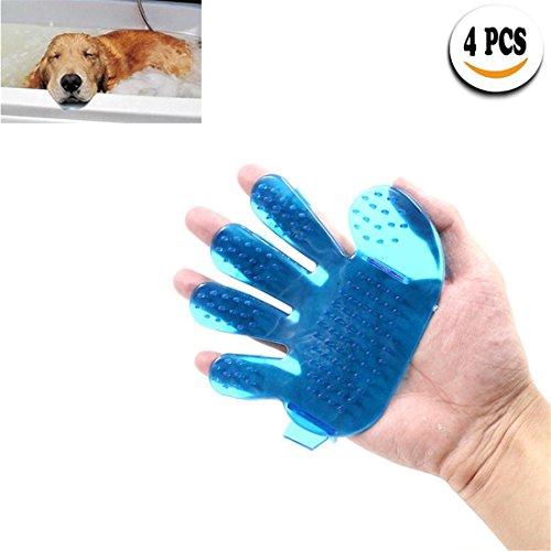Haustier Pflegen Handschuhe, Hund Katze Bad Bürste Massage Zauber Haar Entferner Reinigung, 4 Stück , 4 pieces