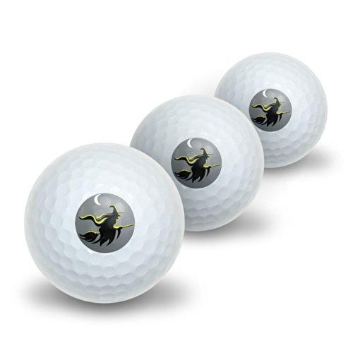 (Hexe–Halloween Neuheit Golf Balls 3Pack)