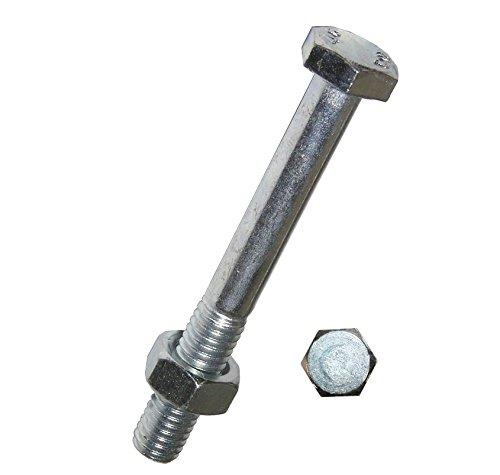 Dresselhaus Sechskantschrauben Mu mit Schaft, M 10 x 110 mm, galvanisch verzinkt, 50 Stück