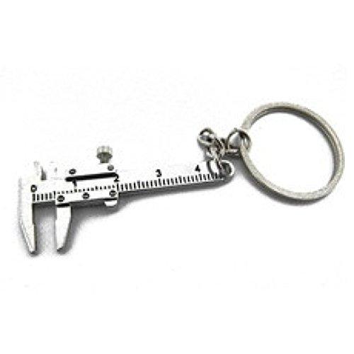 Schlüsselbund, Holeider Metall Bewegliche Messschieber Lineal Schlüsselanhänger Werkzeug Geschenk (Schlüsselanhänger Gürtel-hänger)