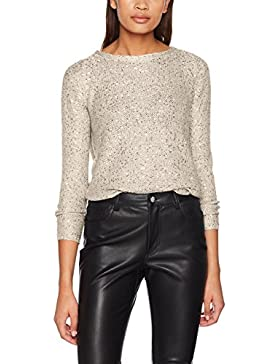 Only Onladele L/S Sequins Pullover Knt, suéter para Mujer