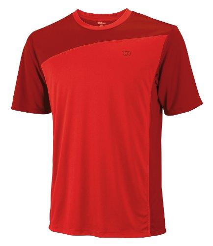 Wilson Herren T Shirt Rush Colorblock Crew Terra Red/Wilson Red