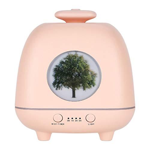 QTT Máquina De Aromaterapia, Difusor De Aceite Esencial Humidificador De La Lámpara De Olor Incienso Dispensador De Aerosol Automático De Colores (Color : Pink)