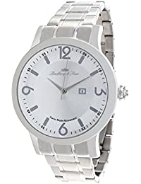 Lindberg & Sons LSSM201B - Reloj pulsera analógico para hombre de cuarzo (calibre Suizo), correa de acero inoxidable plateado