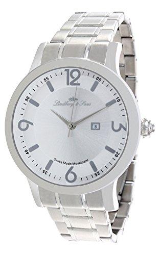 Lindberg & Sons Herren-Armbanduhr Quarz Schweizer Werk Analog Edelstahl - LSSM201B