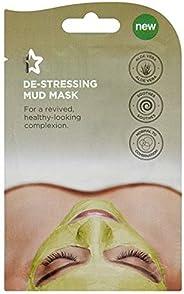 Superdrug S/D Spa De-Stress Mud Mask 15ml, Clear, 15 Pieces