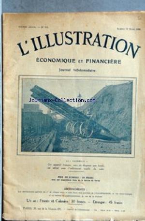 ILLUSTRATION ECONOMIQUE ET FINANCIERE (L') [No 261] du 28/03/1924 - LA SAUTERELLE - APPAREIL FRANCAIS - SUCCES ET DIFFICULTES MONETAIRES.