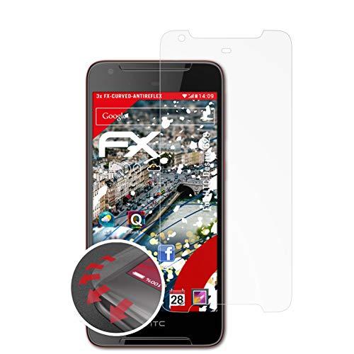 atFolix Schutzfolie passend für HTC Desire 628 Folie, entspiegelnde & Flexible FX Bildschirmschutzfolie (3X)