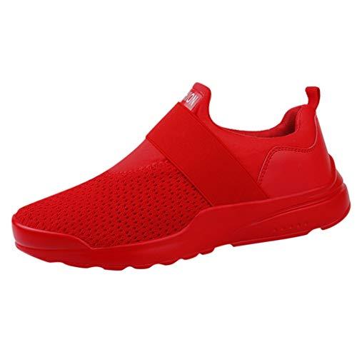 iHENGH Scarpe Sport Running Pigre Pu per Uomo Scarpa Respirante Moda Casual Ragazzo Scarpe Ginnastica Shoes Men 2019 Nuovo Lace-Up Breathable Sneakers Pelle Regalo