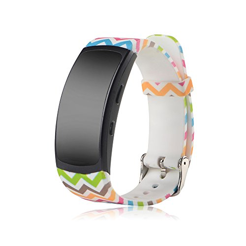 Cyeeson Samsung Gear Fit 2 SM-R360 Replacement Armband Weiche Silikon Farbe Adustable Band Gel Wristband Strap Watch Band für Samsung Gear Fit 2 SM-R360 (Klein)