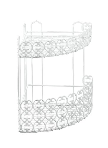 Metaltex - Florenz Mensola doppia angolare per bagno