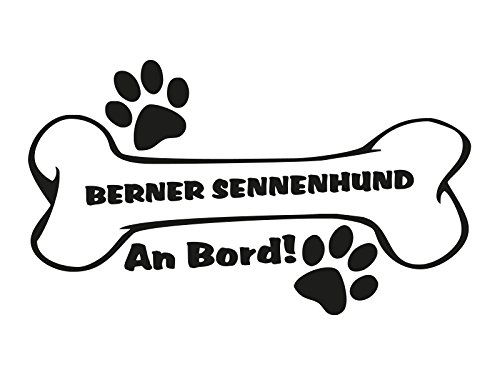 1 x Plott Aufkleber Hundeknochen Berner Sennenhund An Bord Pfote Bone Knochen -