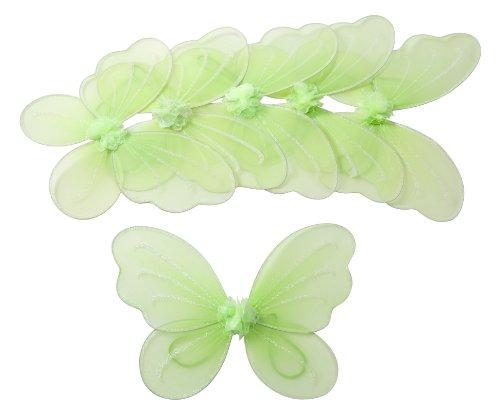 6 Verde Tinkerbell ali della farfalla per ragazze Costume Dress Up