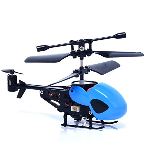 RC 5012 2CH Mini Rc Helicopter Radio Remote Control Plane Micro 2 Channels by ASHOP (Blue)