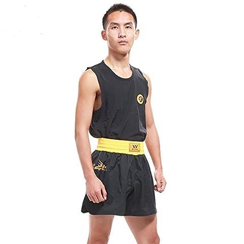 De Wushu SANDA SANDA (Art Martial) uniforme Vêtements Ensemble avec un certificat Iwuf Dragon Imprimé par Weisng, noir