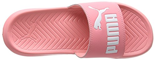 Puma Popcat, Scarpe da Spiaggia e Piscina Unisex-Adulto Rosa (Soft Fluo Peach-puma White)