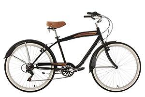 KS Cycling Herren Fahrrad Beachcruiser Vintage RH 46 cm, Schwarz, 26, 729B
