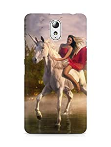 Amez designer printed 3d premium high quality back case cover for Lenovo Vibe P1M (Girl Riding Horse)