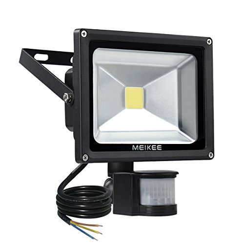 MEIKEE 20W Motion Sensor Light, Super bright Outdoor LED Flood Lights, 1500 Lumen, 100W Halogen Lights Equivalent, Daylight White, Waterproof Security Light, PIR Floodlight[Energy Class A+]