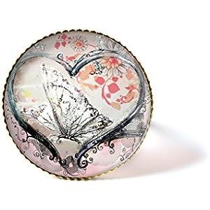 Ring mit Cabochon, Herz