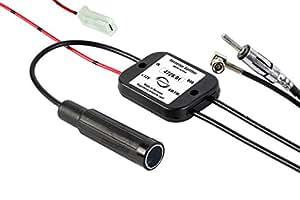 Antennentechnik Bad Blankenburg aktive Frequenzweiche Splitter (AM/DAB+/FM-Tuner, 0,3m) schwarz