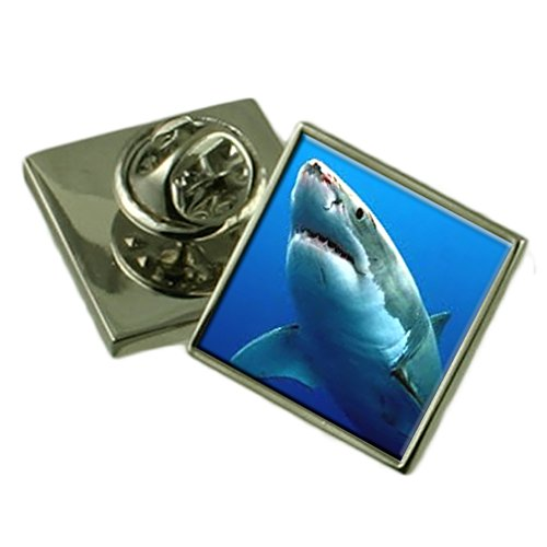 Ozean Great White Shark Ehrennadel Abzeichen Geschenk Tasche