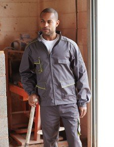 Panoply M6 Panostyle Giacca da lavoro uniforme Grey With Green Trim