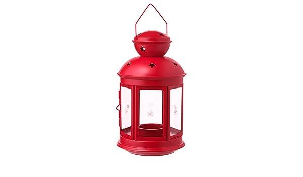 Candele Da Giardino Ikea : Ikea rotera lanterna per candele rosso amazon casa e cucina