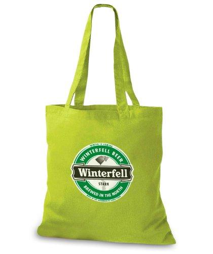 StyloBags Jutebeutel / Tasche Winterfell Beer Kiwi
