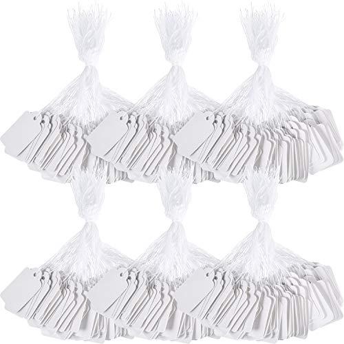 1000 Stück Weiß Marking und Druckbare Preisschilder zur Anzeige von Schmuck Kleidung Produkt, 2,2 x 3,5 cm