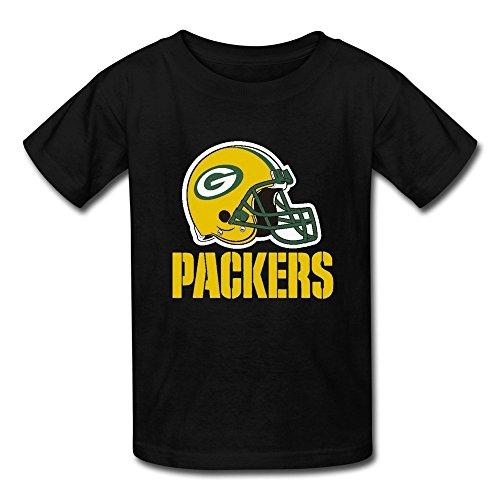 Big Boys' Nfl Green Bay Packers Team Logo T Shirt For Kids schwarz Medium (Boy-logo Big)