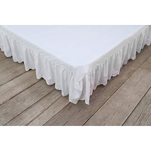 Blanc Mariclò Vestiletto Singolo con Sangallo Bianco 95x200 cm
