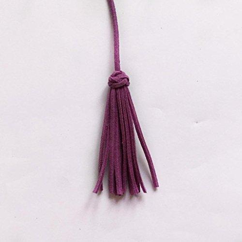 Magideal Velvet Tassel Pendant Charms for Bag Key Chain Crafts Tassel Cord Purple