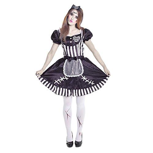 Zombie Puppe Kostüm (Halloween Kostüm Kleid Puppe)