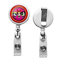 "1 Powerpuff Girls Crafting Mania LLC ID Card Reel, Belt Clip, Extends up to 24"", White"