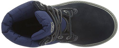 Timberland Unisex-Kinder 6 Classic Boot_6 in Quilt Boot Kurzschaft Stiefel Blau (Navy Nubuck with royal Blue)