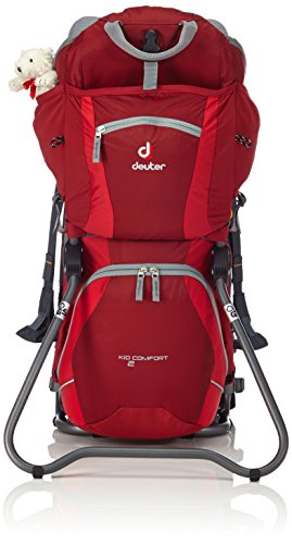 Deuter Unisex Kindertrage Kid Comfort 2, Cranberry-Fire, 72 x 43 x 34 cm, 16 Liter, 3651455600