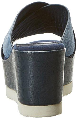 Della Mercadal camoscio Blue Jeans Della Kim Donna Laboratorio Blu Piattaforma Sandali OnUR1q