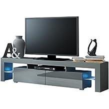 OUTLET TV Schrank Solo Unterschrank Mit LED Fernsehschrank Lowboard