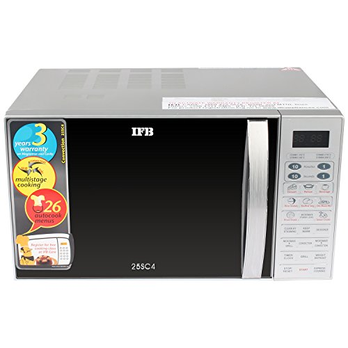 IFB 25SC4 25-Litre Convection Microwave Oven (Metallic Silver)