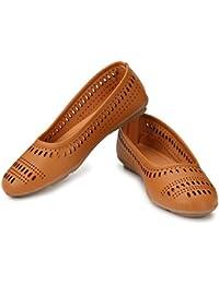 e6dfc5582922 AlexaStar Women Flat Belly Shoes Comfortable Slip On Pointed Toe Girls  Ballet Flats Bellies