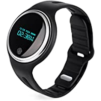 Magicpeony Fitness Tracker, Pulsera Inteligente Deportiva Resistente al Agua IP67, Monitor de Activadad/Dormir, Podómetro, Notificación de Mensajes, Compatible con iOS 7.0 o Superior y Android 4